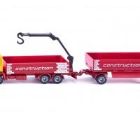 Bouwmaterialen vrachtwagen met aanhanger 1