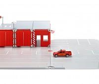 Grondplaten, brandweerkazerne en pickup truck 1