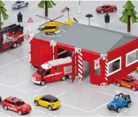 Grondplaten, brandweerkazerne en pickup truck 3