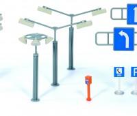Siku straatverlichting en verkeersborden 1