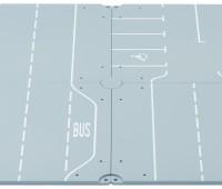 Grondplaten met wegen en parkeerplaatsen 1