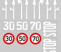Grondplaten met wegen en parkeerplaatsen 2