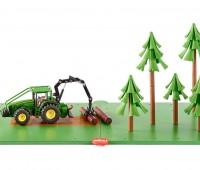 Siku bosbouwset grondplaten met bomen en tractor 1