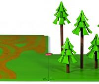 Siku grondplaten met zandpaden en bos 1