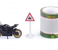 Ducati Panigale 1299 met tape en verkeersbord 1