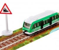 Evergreen trein met tape en bord 2