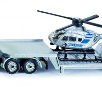 Dieplader met helicopter 1