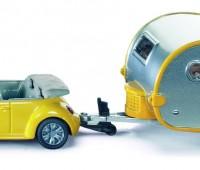 Personenauto met caravan 1