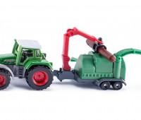 Fendt tractor met houtversnipperaar 1