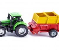 Deutz-Fahr tractor met Pottinger laadwagen 1