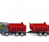 Vrachtwagen met kantelbare bak en kiepaanhanger 2