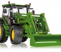 John Deere 6125R tractor met voorlader 1