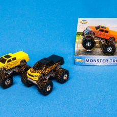 Zwarte Rally Monster Truck 4x4