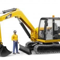 CAT minigraafmachine met bouwvakker