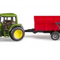 John Deere tractor met kipper