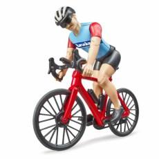 Mountainbike met wielrenner