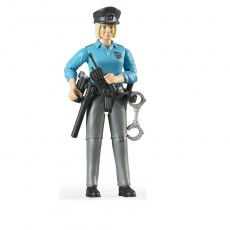 Politieagente met uitrusting