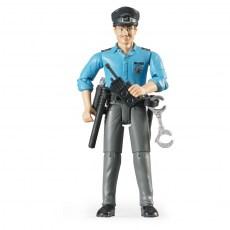Politieagent met uitrusting