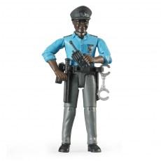 Agent met politieuitrusting