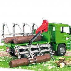 MAN vrachtwagen voor houttransport