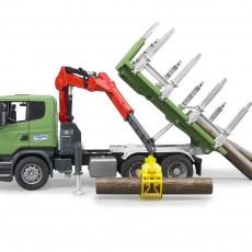 Scania vrachtwagen voor houttransport