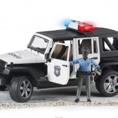 Jeep Politieauto met politieagent