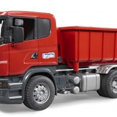 Scania R-serie vrachtwagen met afrolcontainer