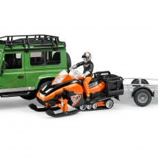Land Rover en sneeuwscooter