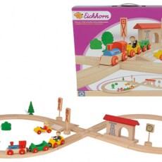 Houten treinbaan set (35 delig)