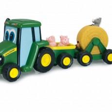 Johnny Tractor en aanhangers met dieren
