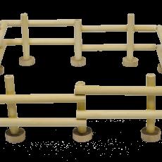 houten hekken voor een weide