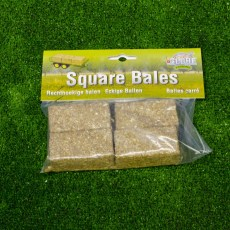 4 vierkante balen