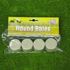 4 gewikkelde ronde balen