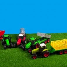 Set van tractor met kipper aanhanger