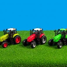 Heldergroene tractor met licht en geluid