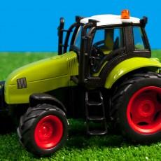 Groene tractor met licht en geluid