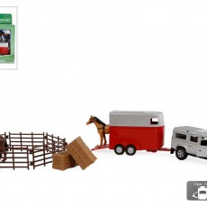 Land Rover met paarden, trailer en accessoires