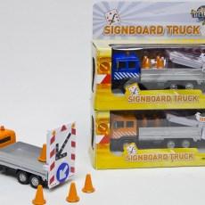 Vrachtwagen met rijdende afzetting (oranje)