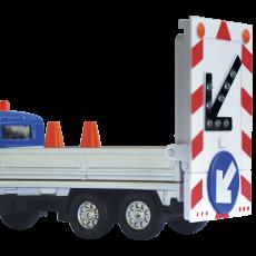 Vrachtwagen met rijdende afzetting (blauw)