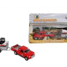 Pick-up met minigraafmachine