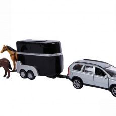 Volvo C90 met paardentrailer (zwart)