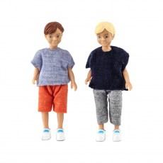 Poppenset van twee jongens