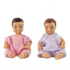 Poppenset van twee babies