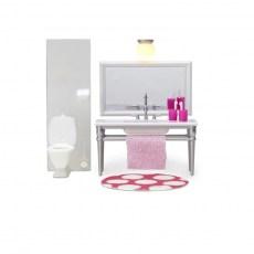 Badkamermeubel, spiegel en toilet
