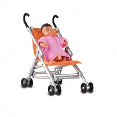 Set van Baby en buggy