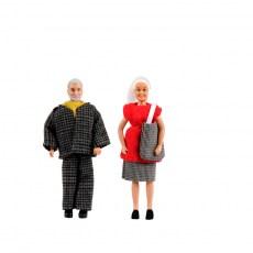 Opa en oma poppen van Lundby