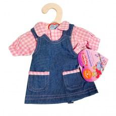 Spijkerjurkje en roze blouse voor een pop