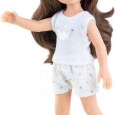 Paola Reina pop met bruin haar en pyjama