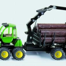 John Deere forwarder met houttrailer