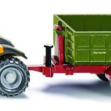 JCB tractor met haaklift aanhanger